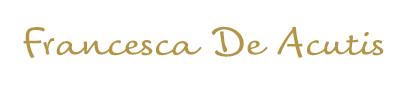 firma Francesca De Acutis